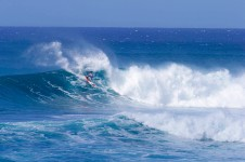 James Casey, full throttle at the Sunset Beach Pro. Photo by Brian Bielman, Waterman Leauge.