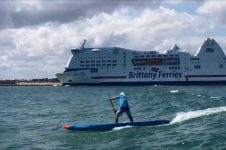SURFING THE FERRY OUISTREHAM WAVE