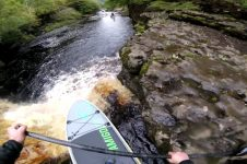 LOCO WHITE WATER PADDLE BOARDING IN NORTH YORKSHIRE
