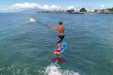 HYDROFOIL SURFING PUMP FILMED ON DRONE