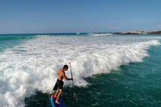 HYDROFOILING LAVA REEF ON THE BIG ISLAND OF HAWAI'I