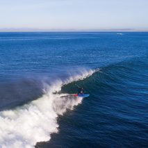 Finn Mullen, Aerial image of SUP surfing