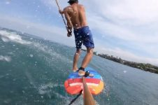 FLYING DOWN THE LINE – SUP FOIL AIRS & CARVES