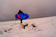 SURFING IN A SNOW STORM