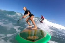 SUP SURFING ON MAUI