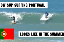 SUP SURFING IN PORTUGAL