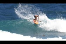 BRAZILIANS TRAIN IN THE SOUP BOWL WAVES