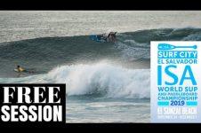 2019 ISA EL SALVADOR SUP SURFING FREE SESSION