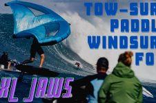 XXL JAWS TOWSURF PADDLE & FOIL: ZANE SCHWEITZER